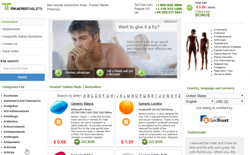 Trusted Tablets Review – A Pharmacy Network with Enough Experience to Handle Your Needs Quickly